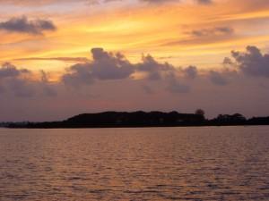 Sonnenuntergan Borgatty Island