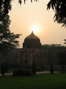 Sonnenuntergang Delhi