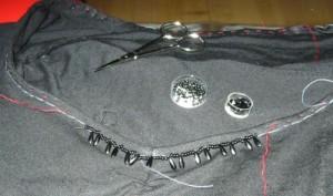 Perlen am Ausschnitt
