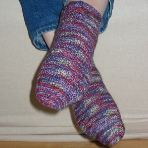 gehäkelte Socken