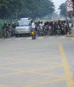 Straße in Bangalore