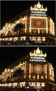 Lichterspiel an Galeries Lafayette