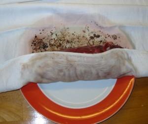 Fleisch einrollen
