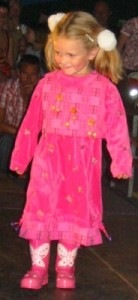 rosa Kinderkleid