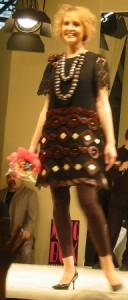 Kleid mit Schokoladendekoration