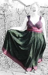 Maxikleid aus Sari