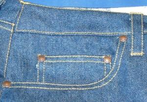 Jeanstaschen mit Nieten