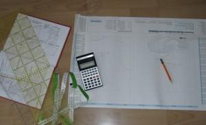 Stift, Papier, Lineal