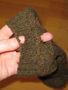 Mottenloch in Socke