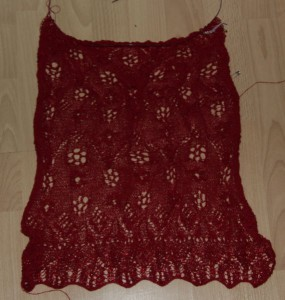 roter Lace-Schal