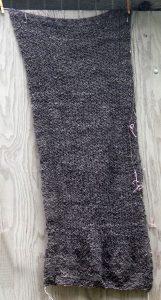 grauer Lace Schal