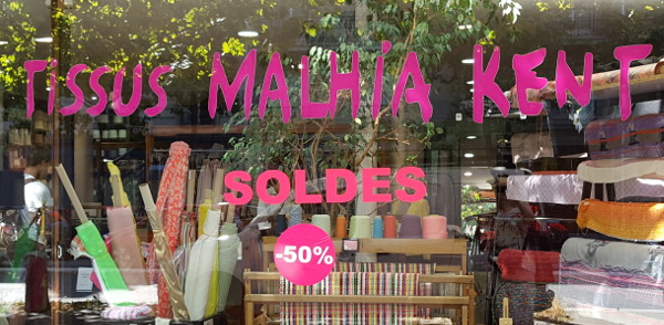 Schaufenster Malhia Kent in Paris