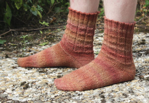braune Socken
