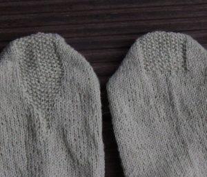 Muster auf Sockenferse