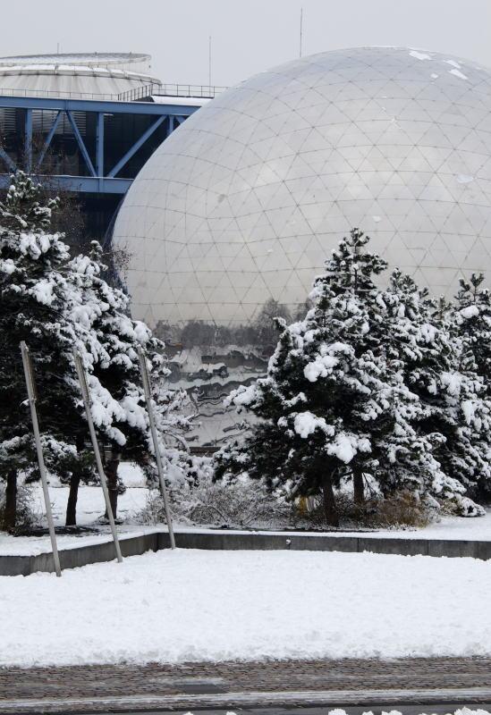 Geode im Schnee
