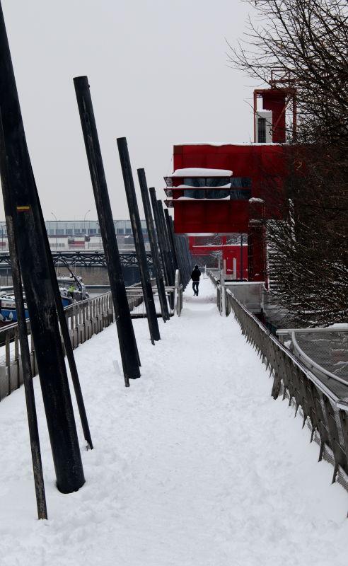 La Villette im Schnee