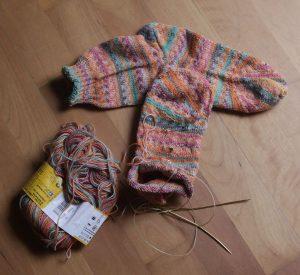 Tipsy Toe Socken, noch nicht fertig gestrickt