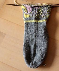 angefangene Socken