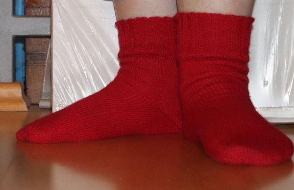 rote Socken aus Fair Alpaka