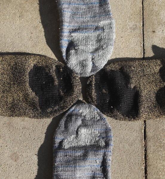 gestopfte Socken