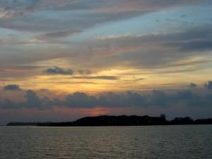 Sonnenuntergang Bolgatty Island