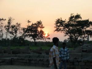 Sonnenuntergang Mamallapuram