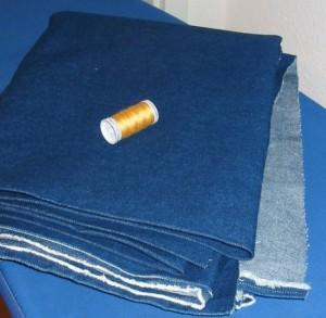 Jeansstoff und Absteppgarn