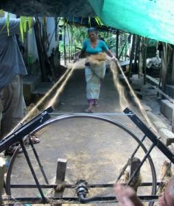 Kokosseil drehen