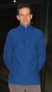 Pullover aus Männermaschen
