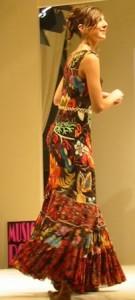 buntes Kleid aus Schokolade