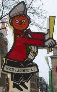 Karnevalsdeko in Köln