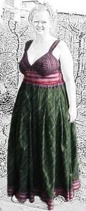 Maxidress aus Sari