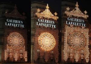 Fassade Galeries Lafayette, Paris, 2010