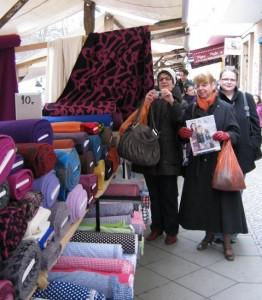 Markt mit Berliner Hobbyschneiderinnen
