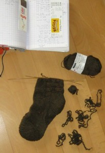 Socke zur rReparatur