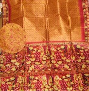 Sari in Block print