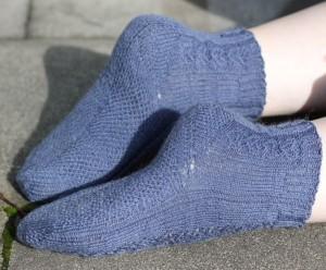 Socken, Seitenansicht