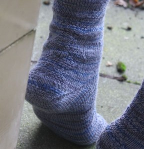 Ferse der Socke