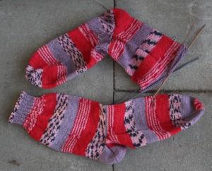Socken in rot