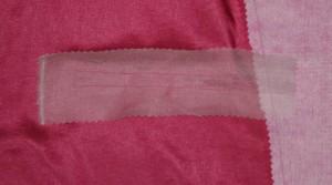 Seidenorganza verstärkt Tascheneingriff