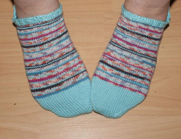 geringelte Sneaker Socken
