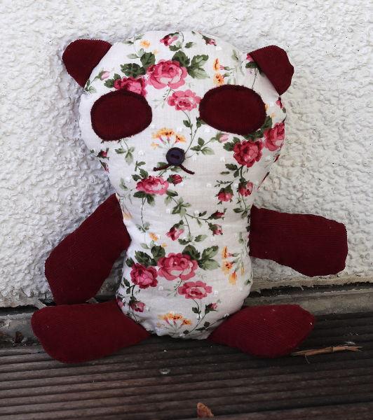 Stoffpanda aus Rosenstoff